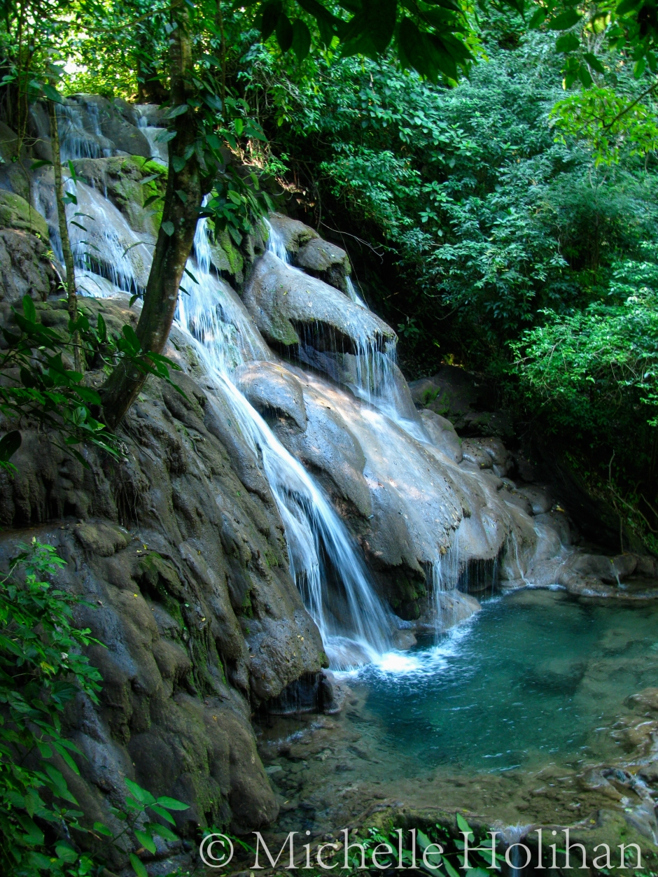 Waterfall at Palenque Ruins, Mexico